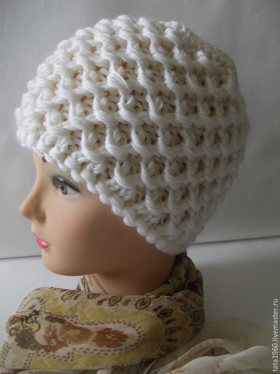 Вяжем зимние шапки спицами видео