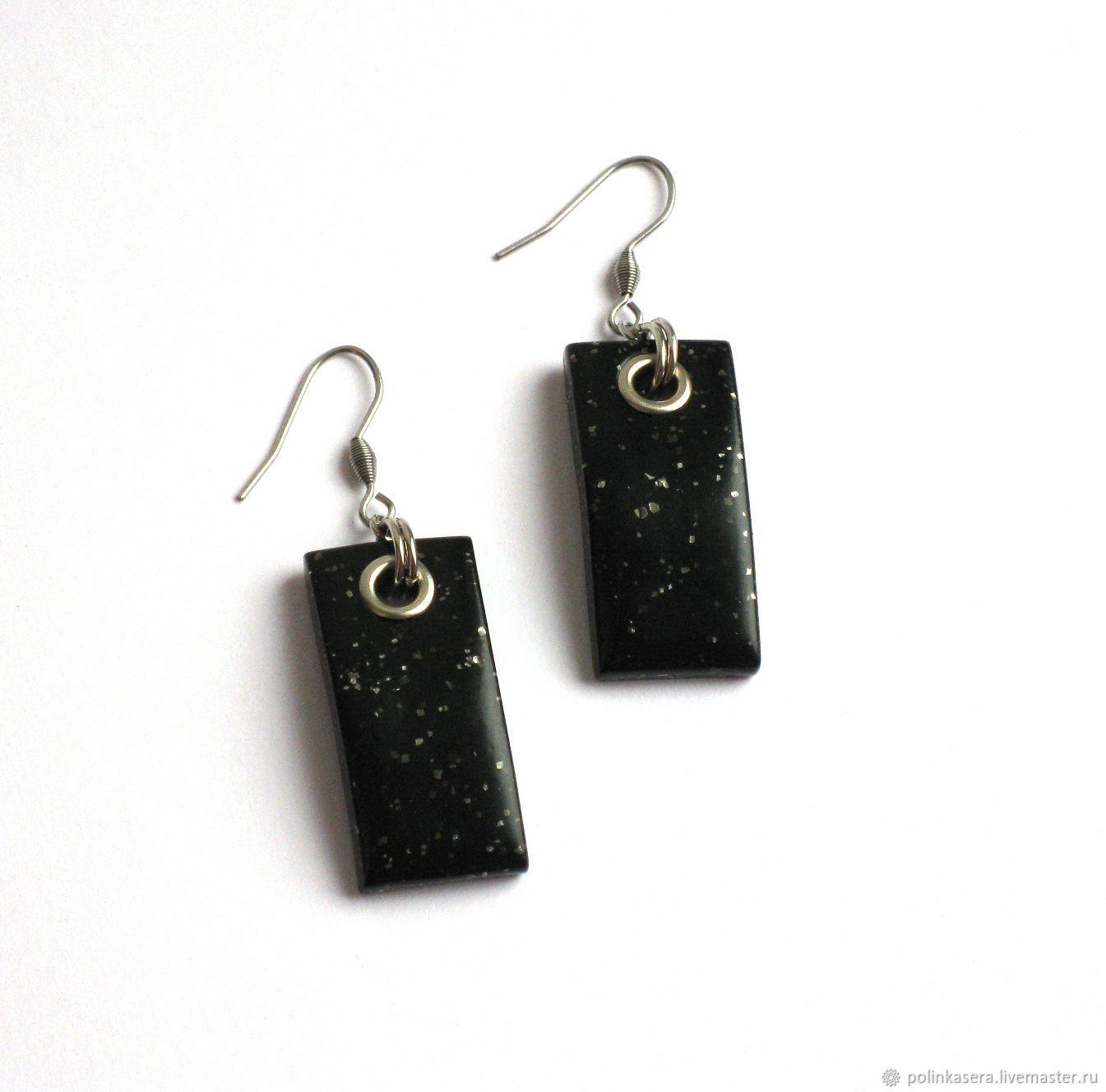 Ocresolate From Natalochka Earrings With Grommets Black