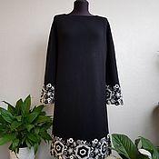 Одежда handmade. Livemaster - original item Black knitted cashmere dress with Merino. Handmade.