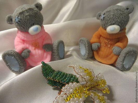 Мыло ручной работы. Ярмарка Мастеров - ручная работа. Купить мыло мишка Тедди в свитере. Handmade. Рыжий, глицериновое мыло