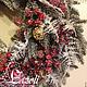 """Новый год 2018 ручной работы. Новогодний венок на дверь """"Изобилие"""". Art_Boutique 'LazStyle'. Ярмарка Мастеров. Новогодний подарок, подарок коллеге"""