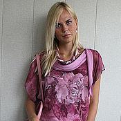"""Одежда ручной работы. Ярмарка Мастеров - ручная работа Летнее платье Пионы::""""Peony with Love"""" dress Pink peony. Handmade."""