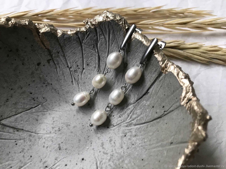Серьги с жемчугом, Серьги классические, Санкт-Петербург,  Фото №1