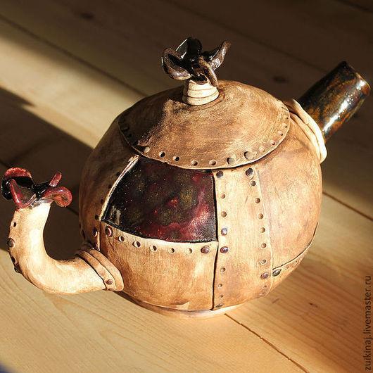 """Чайники, кофейники ручной работы. Ярмарка Мастеров - ручная работа. Купить чайник керамический """"Геликоптер"""". Handmade. Вертолет, авторская посуда"""