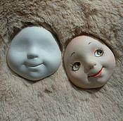 Материалы для творчества ручной работы. Ярмарка Мастеров - ручная работа Личики для кукол и теддидолл из флюмо. Handmade.
