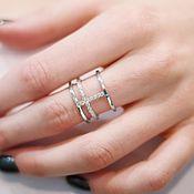 Украшения handmade. Livemaster - original item Silver ring with a scattering of cubic Zirconia. Handmade.