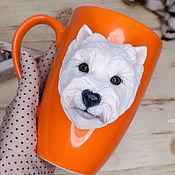 Посуда handmade. Livemaster - original item Portrait mugs with a dog.. Handmade.