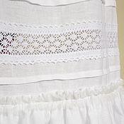 Одежда handmade. Livemaster - original item White skirt, Cloud, summer, cotton, lace, boho.. Handmade.