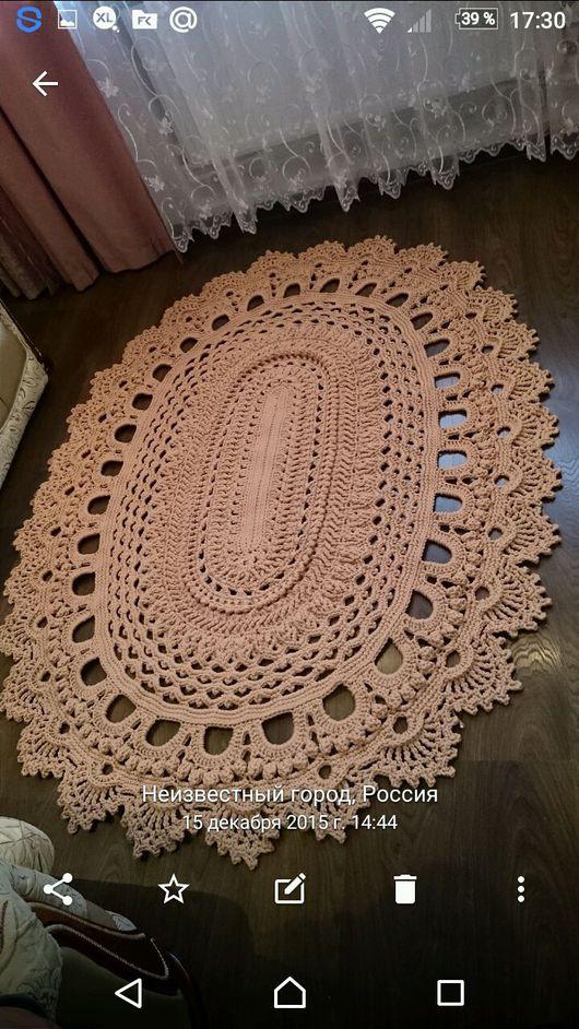Текстиль, ковры ручной работы. Ярмарка Мастеров - ручная работа. Купить Ковер. Handmade. Полиэфирный шнур крючок