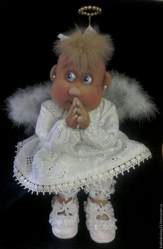 Сказочные персонажи ручной работы. Ярмарка Мастеров - ручная работа. Купить Кукла текстильная Ангел Ангелина. Handmade. Белый