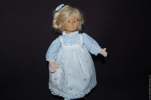 Винтажные куклы и игрушки. Ярмарка Мастеров - ручная работа. Купить Куколка с деревянной головкой, 33 см. Handmade. Бежевый