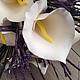 Свадебные цветы ручной работы. Ярмарка Мастеров - ручная работа. Купить Белые каллы из полимерной глины. Handmade. неувядаемый букет