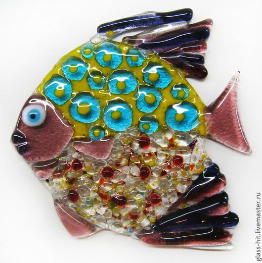 Рыбка подвеска 3. Стекло. Фьюзинг.