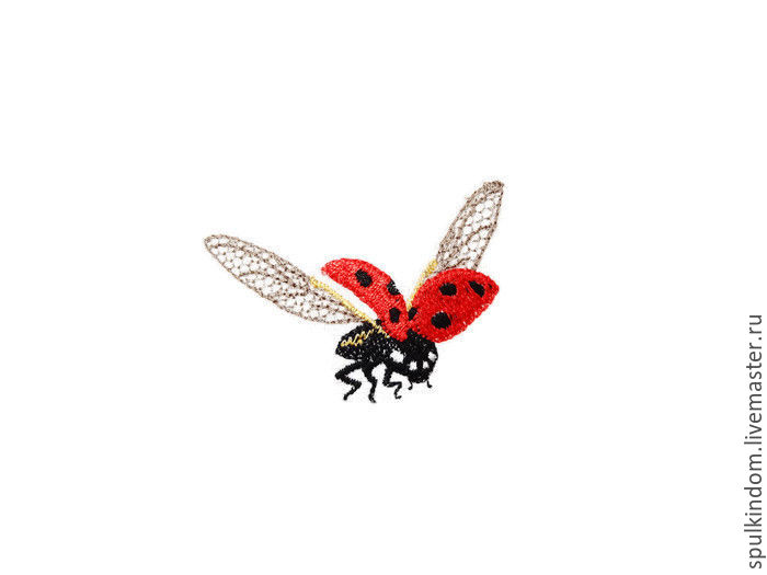 Sachets pillow with embroidered 'Ladybird', Aromatic sachets, Moscow,  Фото №1