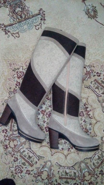 Обувь ручной работы. Ярмарка Мастеров - ручная работа. Купить Сапоги войлочные Верона. Handmade. Войлочная обувь, войлок