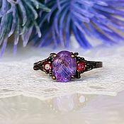 Украшения handmade. Livemaster - original item 18p Ring with amethyst buy. Handmade.