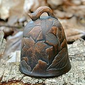 Колокольчики ручной работы. Ярмарка Мастеров - ручная работа Колокольчик керамический Кленовый Лист. Handmade.