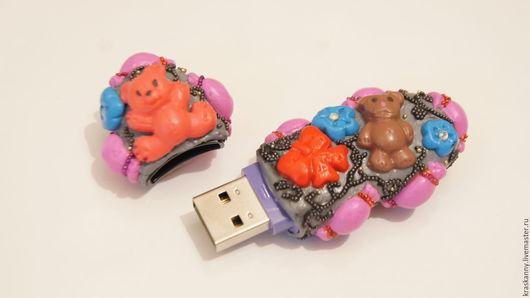 Компьютерные ручной работы. Ярмарка Мастеров - ручная работа. Купить Sweet Bears. Handmade. Серый, flash, sweet, мишка в подарок