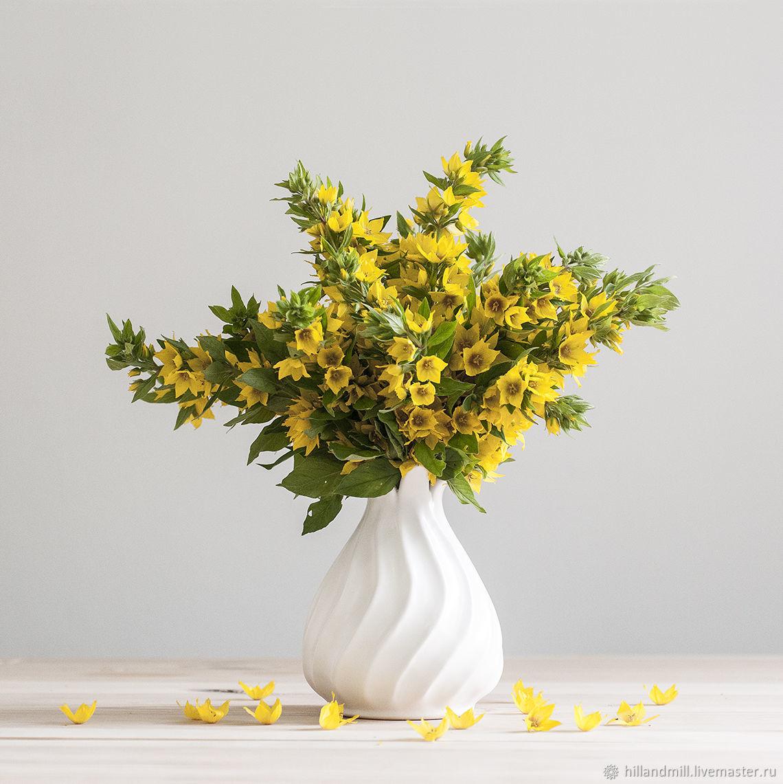"Ваза ""Zefir White M"" керамика, Vases, Vyazniki,  Фото №1"