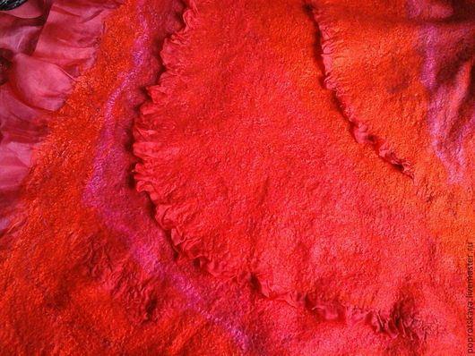 """Шали, палантины ручной работы. Ярмарка Мастеров - ручная работа. Купить Палантин """"Фламенко"""". Handmade. Ярко-красный, красный"""