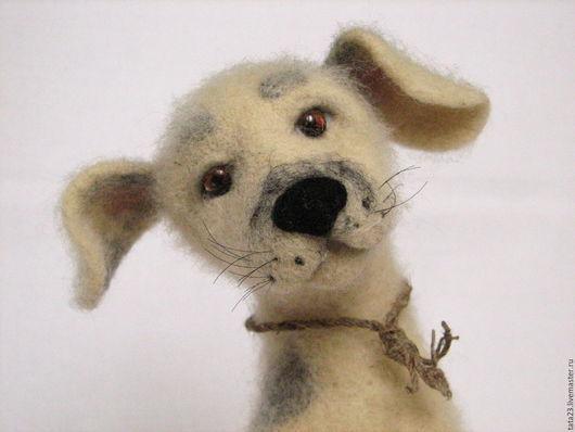 Игрушки животные, ручной работы. Ярмарка Мастеров - ручная работа. Купить Свободолюбивый пёс.Игрушка из шерсти.. Handmade. Игрушка из шерсти