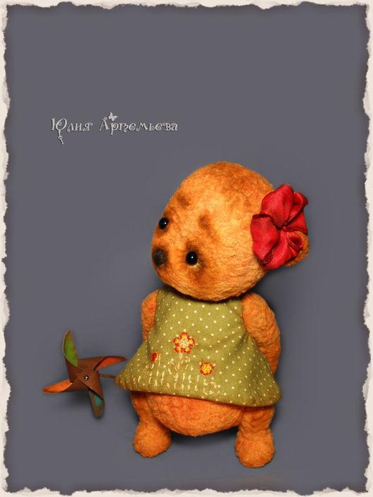 Мишки Тедди ручной работы. Ярмарка Мастеров - ручная работа. Купить Мишка тедди Варенька. Handmade. Оранжевый, авторская игрушка