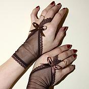 Аксессуары ручной работы. Ярмарка Мастеров - ручная работа Короткие перчатки. Handmade.