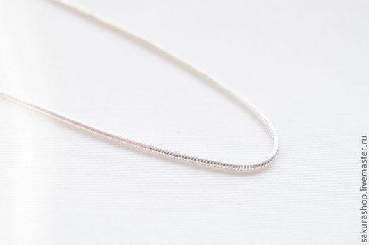 Для украшений ручной работы. Ярмарка Мастеров - ручная работа. Купить Цепочка из серебра плетение мышиный хвост 45 см. Handmade.