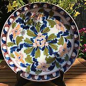 Винтаж handmade. Livemaster - original item Plate Tichelaar Makkum, the rarity, hand painted, Holland. Handmade.