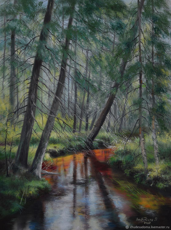 Лесной ручей, Картины, Санкт-Петербург,  Фото №1