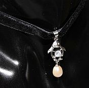 Украшения handmade. Livemaster - original item The choker-choker on the neck with a pendant Penguin. Handmade.