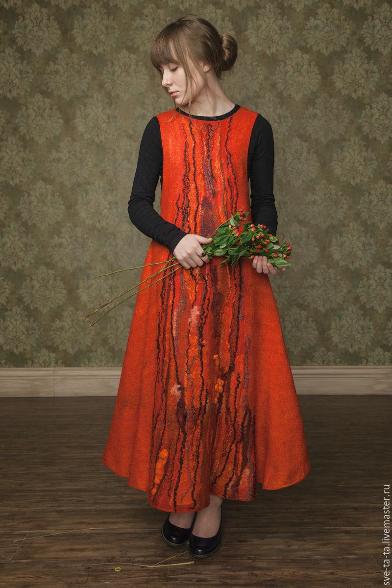 Платье макси, длинное красное платье, яркое авторское Горькая Ягода, Платья, Москва, Фото №1
