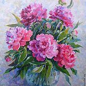 Картины и панно handmade. Livemaster - original item Oil painting Peonies oil on canvas 35на45cm. Handmade.