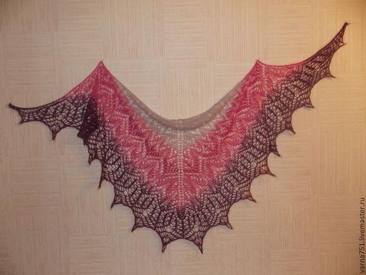 Жар-птица из кид-мохера. Легкая, невесомая и нежная шаль для романтичной женщины