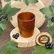 Посуда handmade. Livemaster - original item The glass is made from natural wood of Siberian Cedar Wood glass #C15. Handmade.