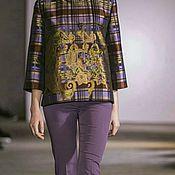 Одежда ручной работы. Ярмарка Мастеров - ручная работа Куртка из жаккарда с вышивкой.. Handmade.
