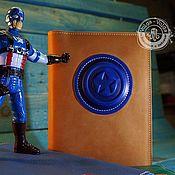 Канцелярские товары handmade. Livemaster - original item Notepad ( captain America). Handmade.