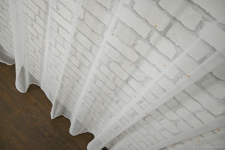 сетка молочная бусины пудра, 300*275 и другие, СПб, Тюль, Санкт-Петербург,  Фото №1