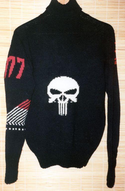 """Подростковая одежда: свитер с черепом из """"PUNISHER"""" (шерсть)"""
