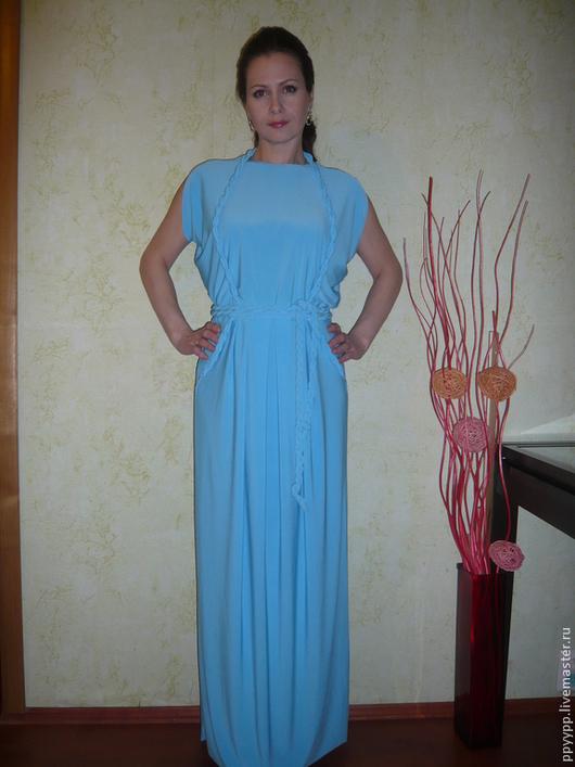 """Платья ручной работы. Ярмарка Мастеров - ручная работа. Купить Платье """"И снова Крит..."""". Handmade. Бирюзовый, платье"""