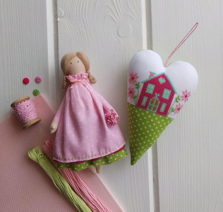 Куколка малышка с сердечком, Куклы Тильда, Гомель,  Фото №1