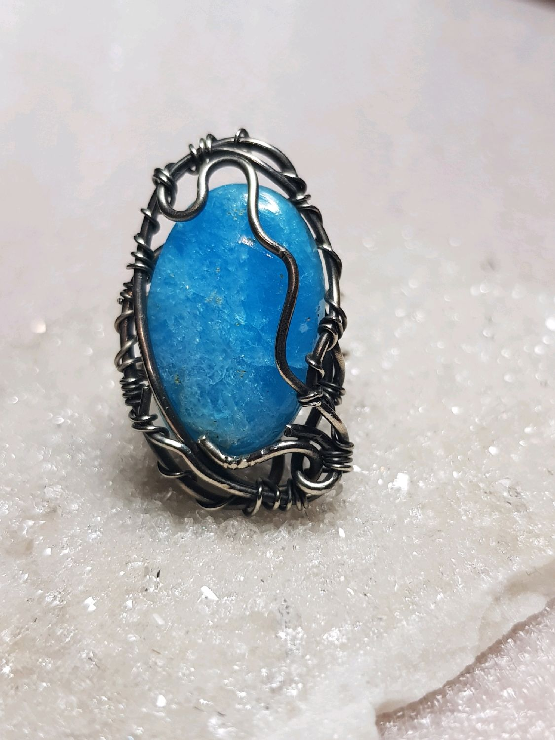 Ring with aragonite (natural color), Rings, Voronezh,  Фото №1