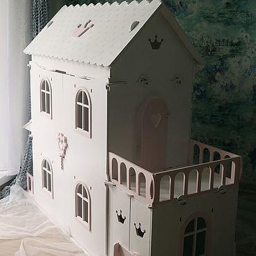 """Dolls & toys handmade. Livemaster - original item Copy of Кукольный дом для Барби  """"Лена"""" бирюзовый. Handmade."""