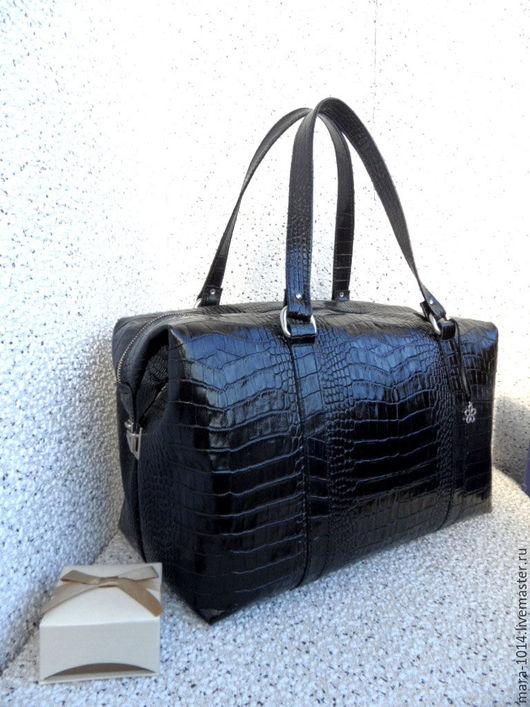 Женские сумки ручной работы. Ярмарка Мастеров - ручная работа. Купить СИТИ в деталях, большая кожаная сумка, дорожная, спортивная сумка. Handmade.