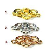 Материалы для творчества handmade. Livemaster - original item The locks are 18K gold, platinum, pink, micro zircons. PCs. Handmade.
