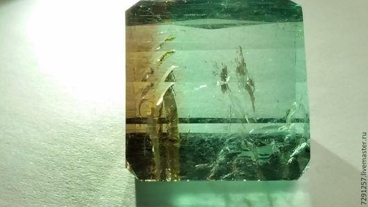 Для украшений ручной работы. Ярмарка Мастеров - ручная работа. Купить ТУРМАЛИН(АРБУЗ) 30.35 КАРАТ. Handmade. Бирюзовый