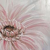 """Картины и панно ручной работы. Ярмарка Мастеров - ручная работа РезервКартина маслом """"Гербера"""", 40х60 (цветок, розовый, белый). Handmade."""