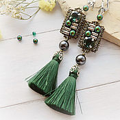 Украшения handmade. Livemaster - original item Earrings with tassels
