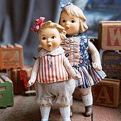 Куклы и игрушки ручной работы. Ярмарка Мастеров - ручная работа Куколки из антикварных деталей Сестрички. Handmade.