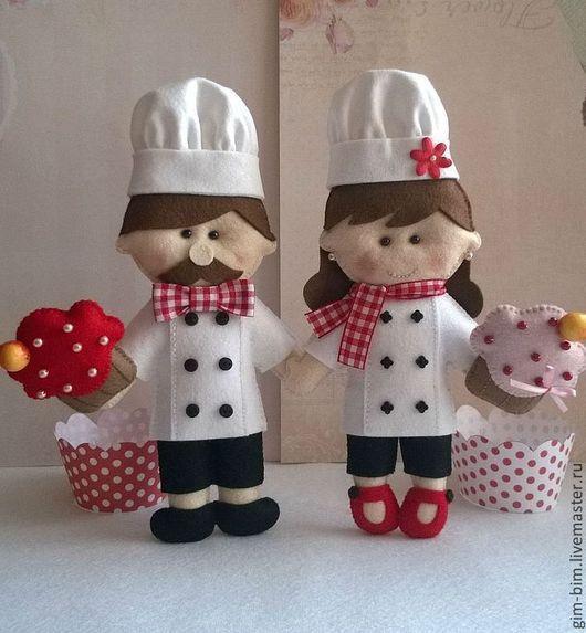 Коллекционные куклы ручной работы. Ярмарка Мастеров - ручная работа. Купить ПОВАРЯТА. Handmade. Белый, повар, еда для кукол